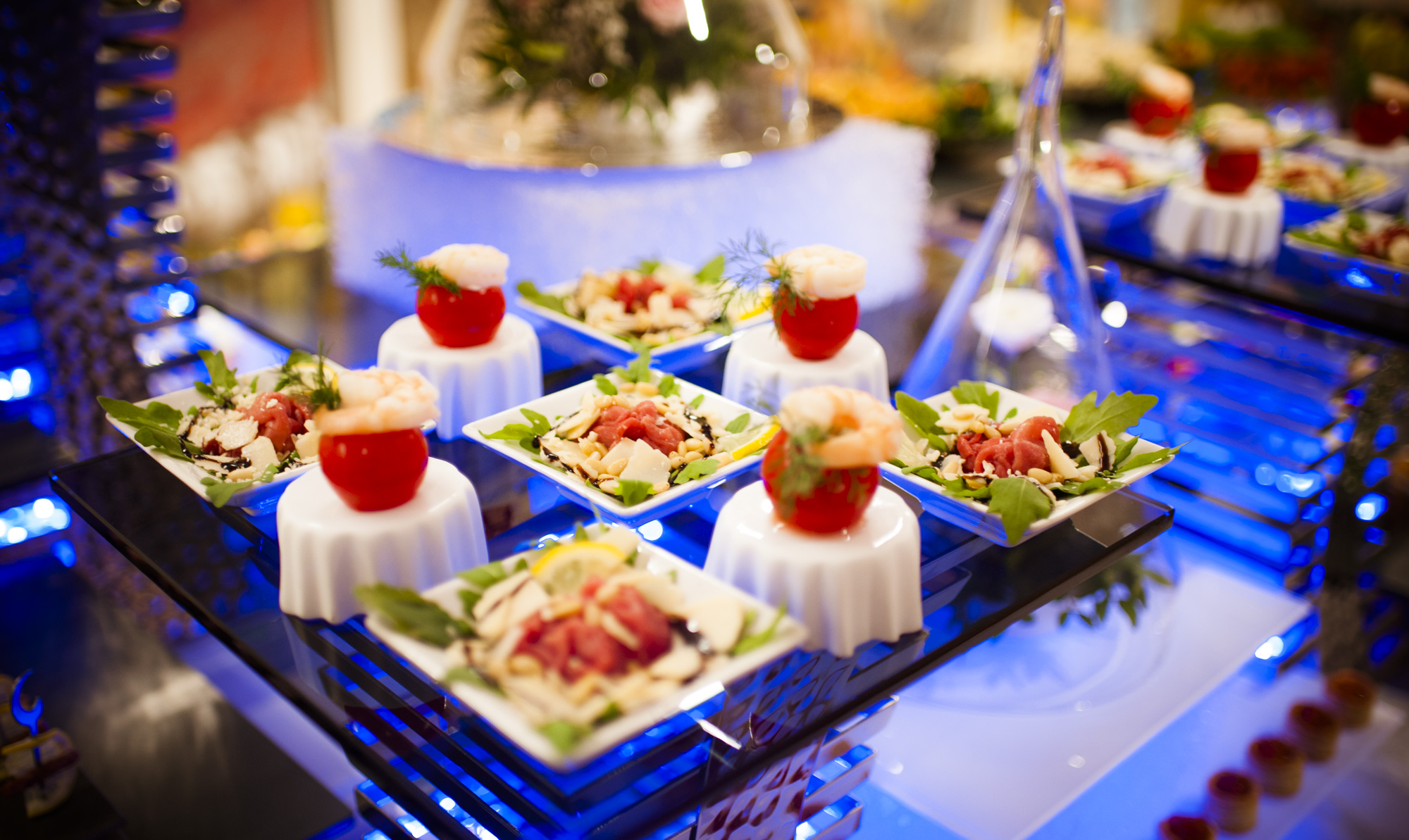 Abendbuffet russische Hochzeit