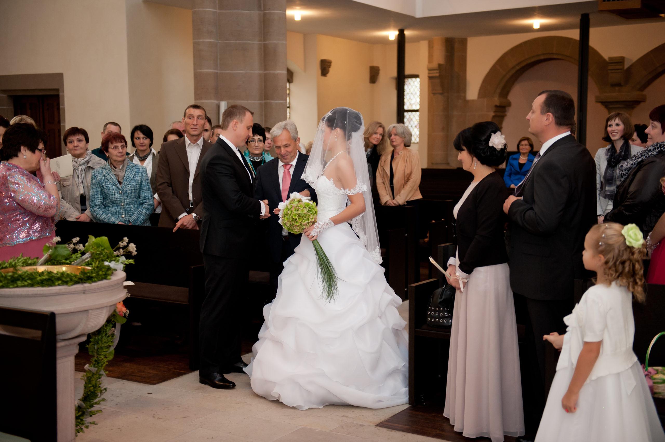 Kirchliche Trauung Braut