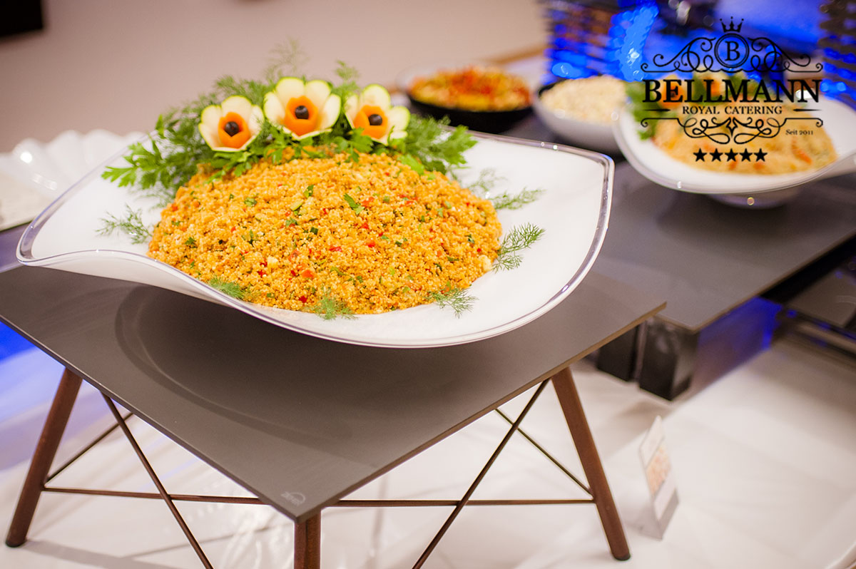russisches catering Salat Cuscus