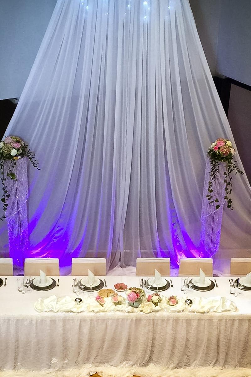 Hinterwand für Brauttisch